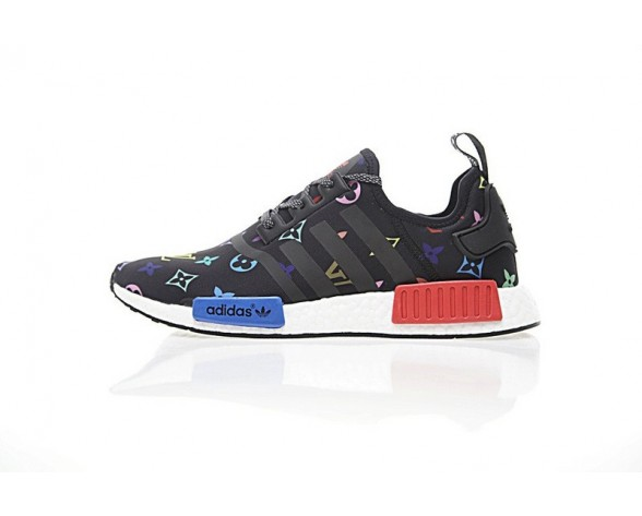 Schwarz & Multicolors L.V X Adidas Nmd R_1 Boost Loog Ba7525 Schuhe Unisex