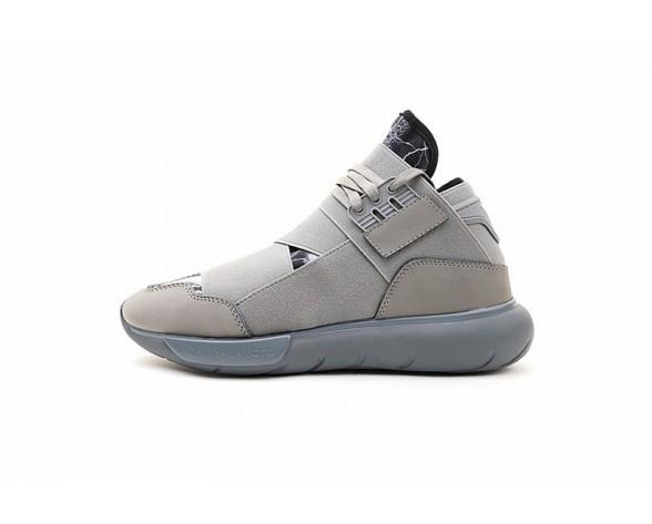 Unisex Y-3 Qasa High Y3-888 Ash Grau & Lightning Schuhe