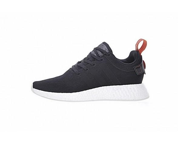 Adidas Nmd Boost R_2 Cg3384 Unisex Schuhe Dunkel Grau & Orange