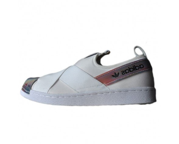 Adidas Superstar Slip On W S82792 Unisex Schuhe Weiß/Rainbow