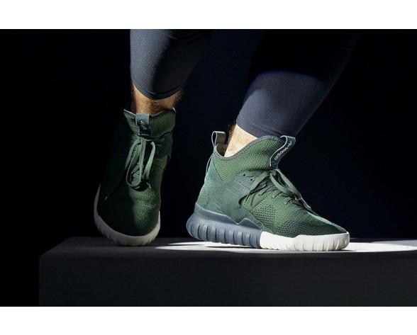 Unisex Adidas Originals Tubular X Primeknit S81672 Dunkel Grün Schuhe