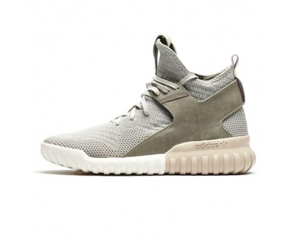 Sesame / Clay Herren Adidas Originals Tubular X Primeknit S81673 Schuhe