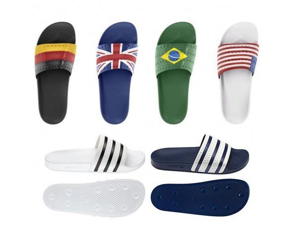 Unisex Adidas Originals Adilette & Slides Flags Schuhe