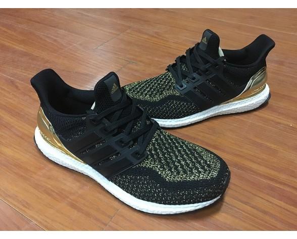 Unisex Adidas Ultra Boost X Continentalck Aq3301 Schuhe Schwarz Gold Plating