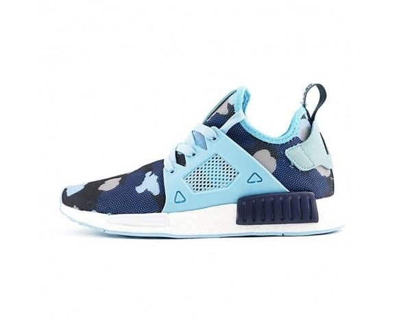 Schuhe Adidas Originals Nmd Primeknit Xr1 Ba7753 Unisex Blau & Camo