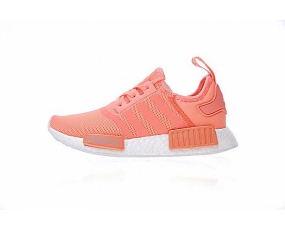 Adidas Nmd R_1 W Boost Ba7743 Damen Bright Orange & Weiß Schuhe