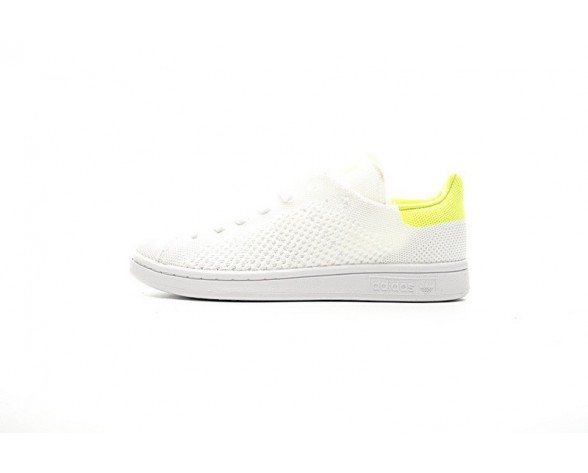 Weiß & Fluorescent Grün Schuhe Adidas Originals Stan Smith Primeknit Bb5147 Unisex