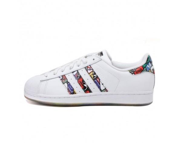 Schuhe Graffiti Weiß Unisex Adidas Superstar Logos S79390