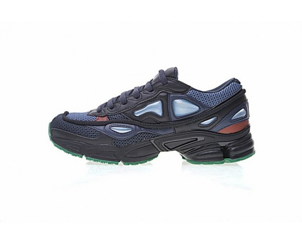 Midnight Marine & Rot & Grün Raf Simons X Adidas Consortium Ozweego 2 By9866 Unisex Schuhe