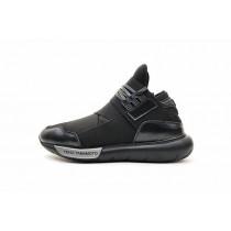 Unisex Schuhe Y-3 Qasa High S83173 Schwarz & Grau & Silber