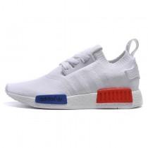 Adidas Originals Nmd Runner Primeknit & S79169 Weiß & Blau & Rot Schuhe Unisex