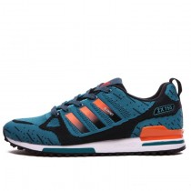 Adidas ZX 750 Flyknit 40-45 Lake Blau & Orange Schuhe Herren