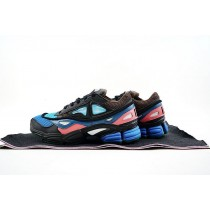 Schwarz & Blau & Rosa Schuhe Unisex Raf Simons X Adidas Consortium Ozweego 2 S76451