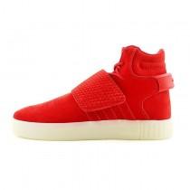 Rot & Weiß Unisex Schuhe Adidas Tubular Invader Strap Bb5039
