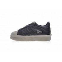 Schuhe Damen Schwarz & Licht Grau Rick Owens X Adidas Mastodon Pro Model Low Ba9764