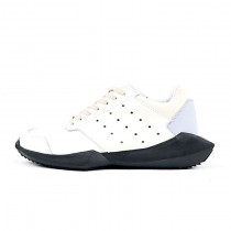 Unisex Schuhe Rice Weiß & Schwarz Adidas X Rick Owens Tech Runner B35084