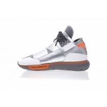 Y-3 Qasa High B26336 Silber & Grau & Orange Unisex Schuhe