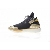 Schuhe Y-3 Qasa High Bb4762 Schwarz & Gold & Snake Unisex