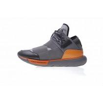 Grau & Schwarz & Orange Snake Unisex Y-3 Qasa High Bb4760 Schuhe