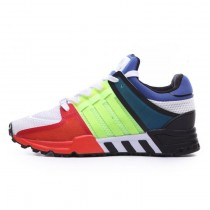 Unisex Adidas Eqt Running Support 93 Color Blocking S81483 Schuhe Rot & Grün & Blau