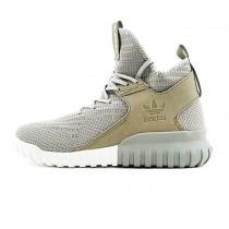 Herren Ash Grau & Beige Schuhe Adidas Originals Tubular X Primeknit Af5592