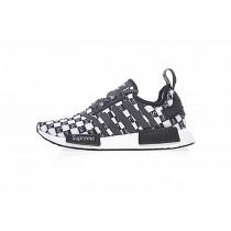 Unisex Schwarz & Weiß Supreme X Adidas Nmd R_1 Boost P Ba7745 Schuhe