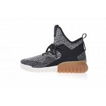 Schuhe Adidas Originals Tubular X Primeknit By3145 Herren Schwarz & Grau & Weiß & Braun