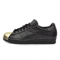 Schuhe Unisex Adidas Originals Superstar 80S Metal Toe D67591 Schwarz/Gold