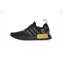 Schwarz & Gold Schuhe Unisex Versace X Adidas Nmd R_1 Boost Ba7250