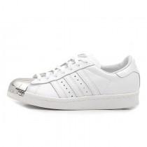 Adidas Originals Superstar 80S Metal Toe D67592 Weiß Silber Unisex Schuhe