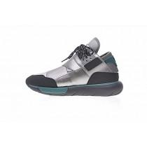 Unisex Y-3 Qasa High B26333 Schuhe Silber & Grau & Grün