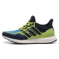 Fluorescent Grün Dunkel Blau Adidas Ultra Boost Unisex Schuhe
