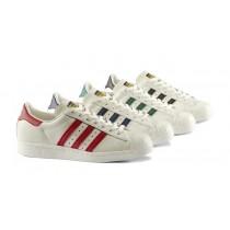 Weiß & Tief Blau Schuhe Adidas Originals Superstar 80S B25964 Unisex