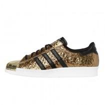 Gold Foil Adidas Superstar 80S Metal Toe B25033 Unisex Schuhe