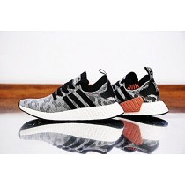 Schwarz & Grau & Camo Rot Adidas Nmd_R2 Primeknit Boost Pk By9409 Schuhe Unisex