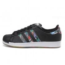 Unisex Schuhe Adidas Superstar Logos S79391 Graffiti Schwarz