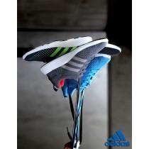 Unisex Ash Grau & Rot Adidas Consortiumprimeknit Pure Boost Schuhe