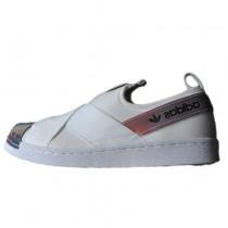 Adidas Superstar Slip On W S82792 Unisex Schuhe Weiß/Rainbow