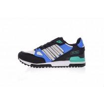 Adidas Originals ZX 750 Q23662 Oxford Schwarz & Blau & Weiß & Grün Schuhe Herren