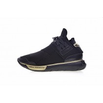 Schuhe Adidas Y-3 Qasa High Cq5500 Unisex Schwarz & Platinum Gold
