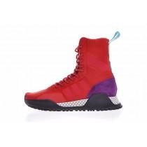 Schuhe Rot & Schwarz & Rosa & Weiß Adidas Originals Af 1.3 Primeknit Boots Bz0611 Unisex