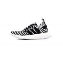 Herren Adidas Originals Nmd R2 Primeknit Ba7196 Weiß & Schwarz Schuhe