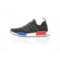 Schuhe Unisex Adidas Nmd Custom R_1 Boost Og Ba7265 Weiß & Blau & Rot