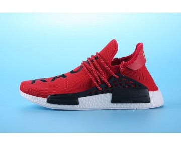 Herren Pharrell Williams X Adidas Nmd Human Race S79161 Bright Rot Schuhe