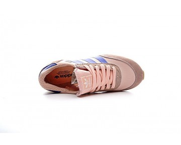 Schuhe Coral Rosa & Weiß & Blau Damen Adidas Iniki Runner Boost Ba9999