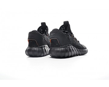 Schwarz & Orange & Rot Herren Adidas Tubular Doom Sock Low S74266 Schuhe