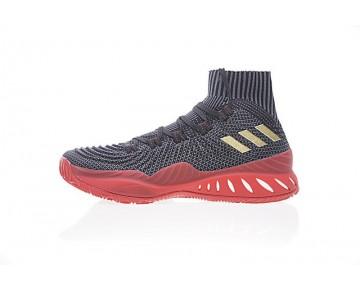 Schuhe Unisex Adidas Crazy Explosive Primeknit Cq1395 Schwarz & Grau & Rot