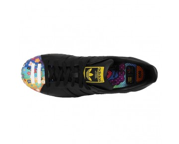 Adidas Originals Superstar Mr. Supershell & Artwork Flowers Pharell Ftwr Schwarz S83362 Schwarz Flower Schuhe Unisex