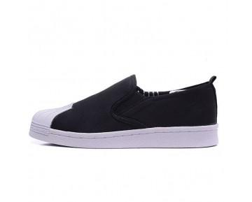 Schwarz Adidas Originals Superstar Slip On Unisex Schuhe