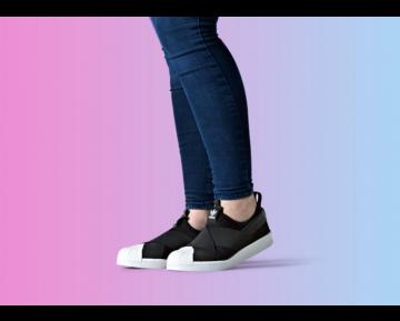 Unisex Schuhe Schwarz Adidas Originals Superstar Slip On